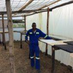 Gardener Lovemore prepares to sow seeds