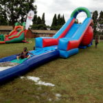 Water slides and bouncy castles are donated for their Funday celebrations