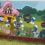 Another outside wall covered with a cartoon