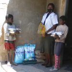 Basic food supplies delivered to a family by MRCH